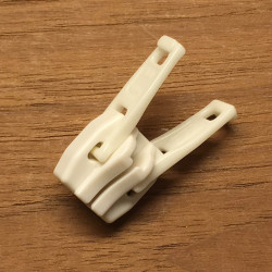 Dobbeltskyder til lynlås no. 10 plast