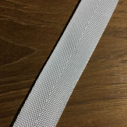 Webbing hvid soft 25 mm