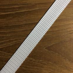 Webbing hvid hårdt vævet 20 mm