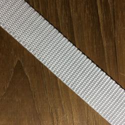 Webbing hvid hårdt vævet 25 mm