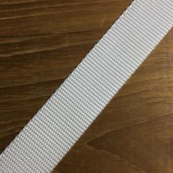Webbing hvid hårdt vævet 30 mm