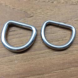 25 mm D-ring rustfri stål