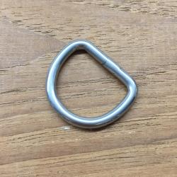20 mm D-ring rustfri stål